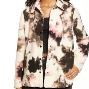 BP Fuzzy Teddy Shacket Sweater Jacket NWT Medium